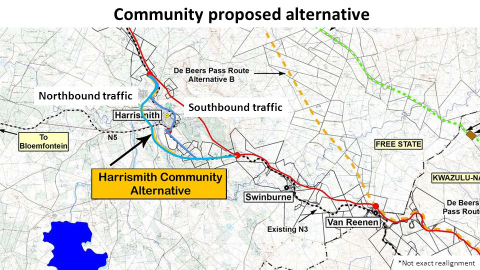 Keep the Harrismith N3 Keep the Harrismith N3 is a community based initiative to unify the community's approach and grievances against the proposed realignment alternatives proposed by SANRAL and the N3TC.