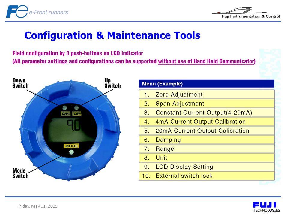 Configuration & Maintenance Tools Friday, May 01, 2015