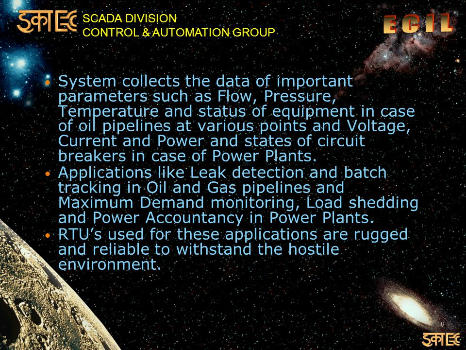 SCADA DIVISION CONTROL & AUTOMATION GROUP 39