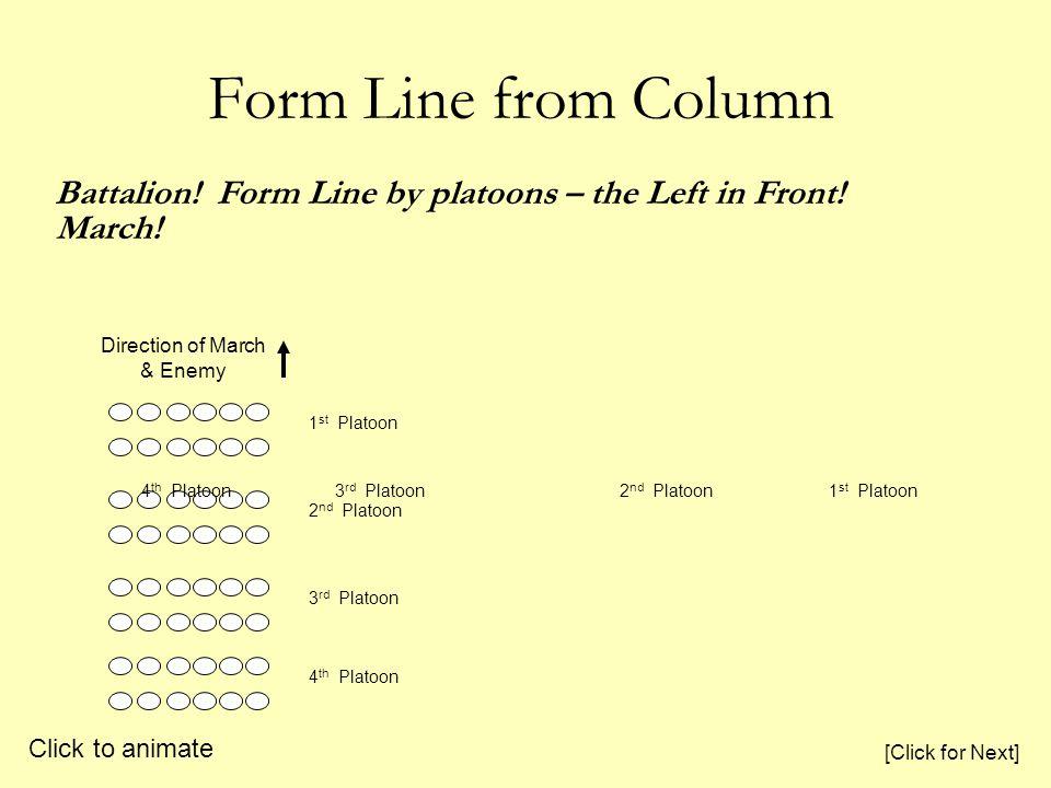 Form Line from Column 2 nd Platoon 1 st Platoon Battalion.