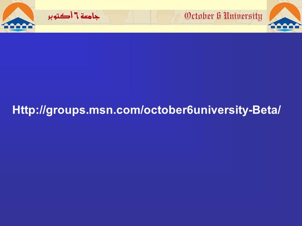 Http://groups.msn.com/october6university-Beta/