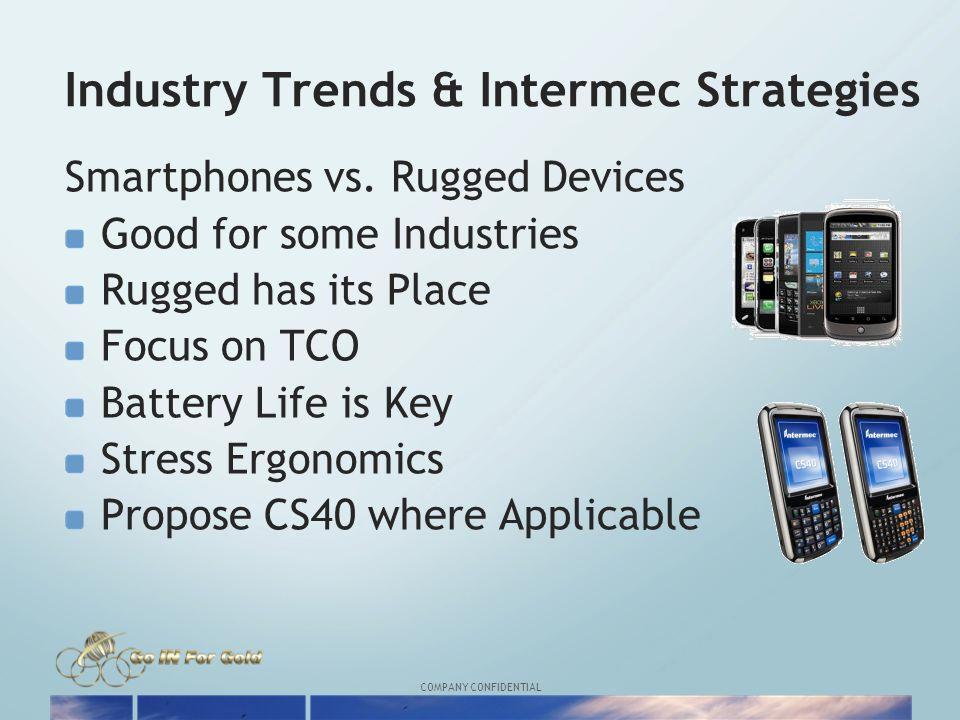 COMPANY CONFIDENTIAL Industry Trends & Intermec Strategies Smartphones vs.