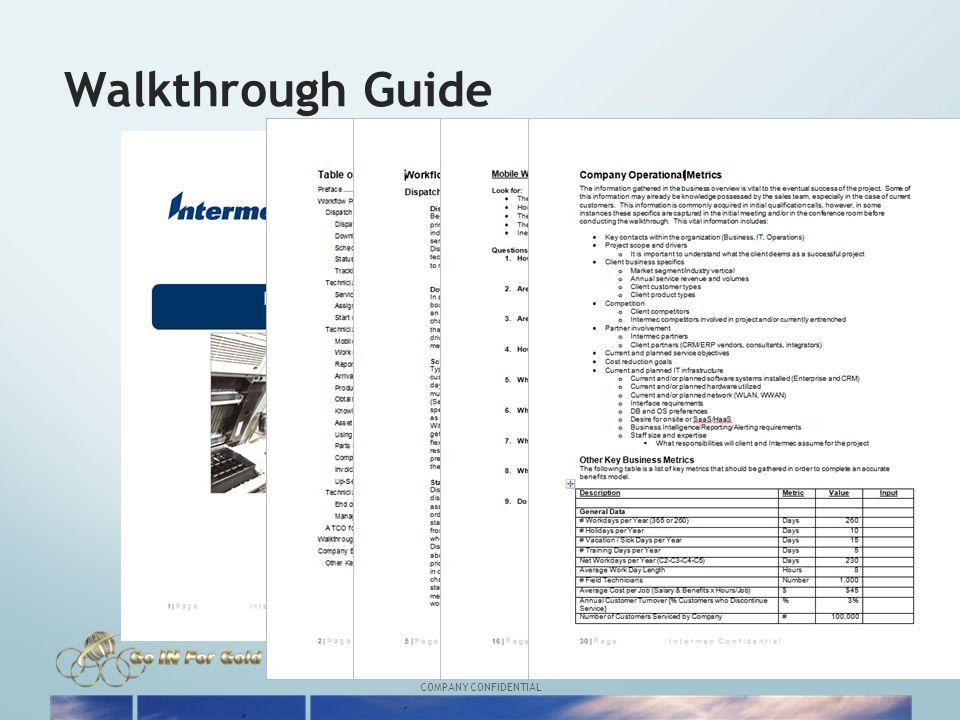 COMPANY CONFIDENTIAL Walkthrough Guide