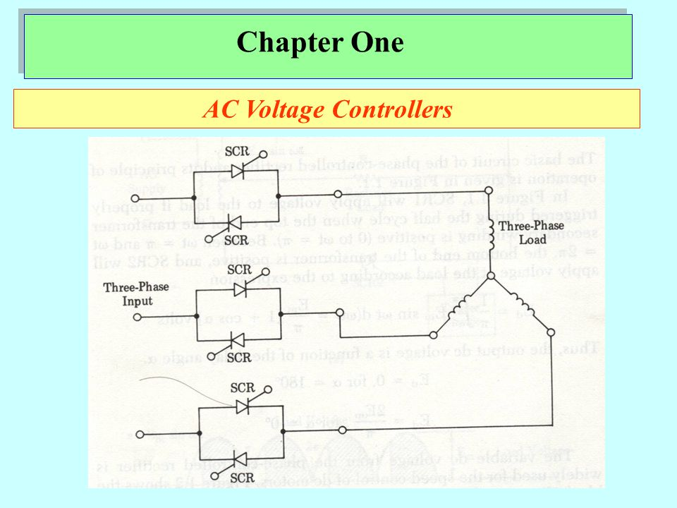 Chapter One AC Voltage Controllers
