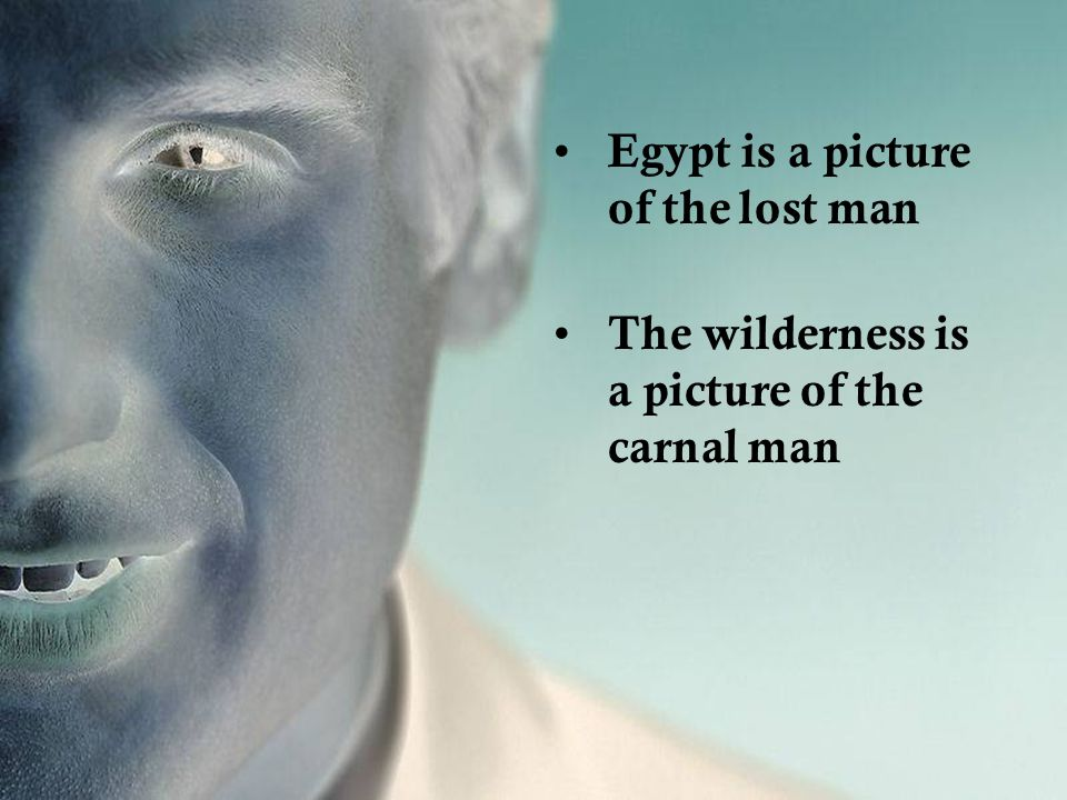Egypt is a picture of the lost man The wilderness is a picture of the carnal man