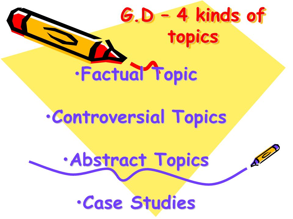 Why a G.D? Gives exposure to others' ideasGives exposure to others' ideas Allows you to ventilate your viewsAllows you to ventilate your views Can cha