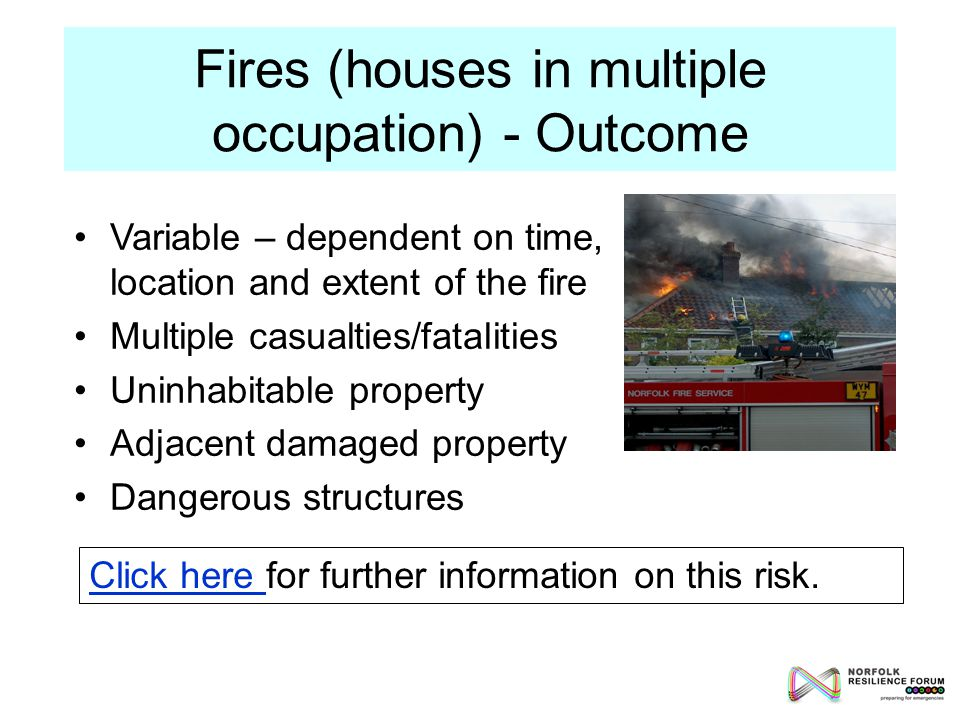 Fires (houses in multiple occupation) - Outcome Click here Click here for further information on this risk.