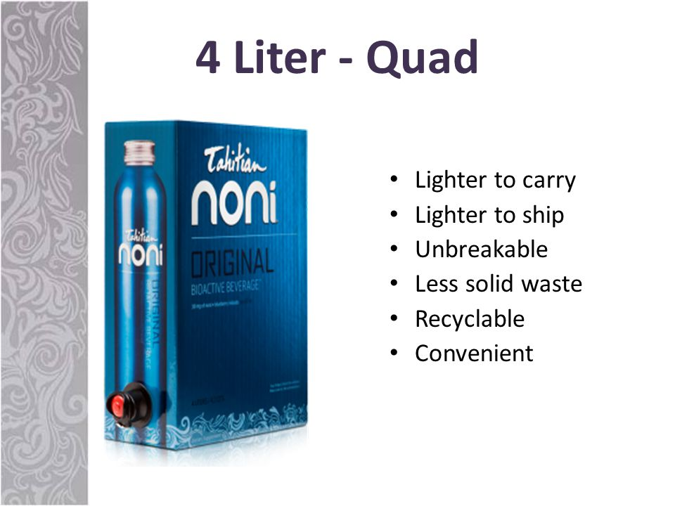 4 Liter - Quad Bioactive Lighter to carry Lighter to ship Unbreakable Less solid waste Recyclable Convenient