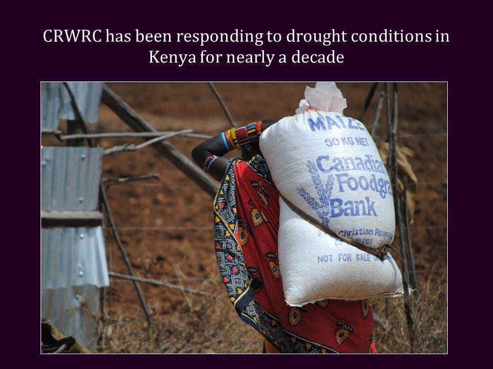 During this crisis, CRWRC's Kenyan response is targeting the districts of Isiolo, Mbeere, Tharaka, Narok, Kajiado, Turkana, West Pokot, Laikipia, Taita Taveta, and Kilifi http://dianegreenwood.com/africa /