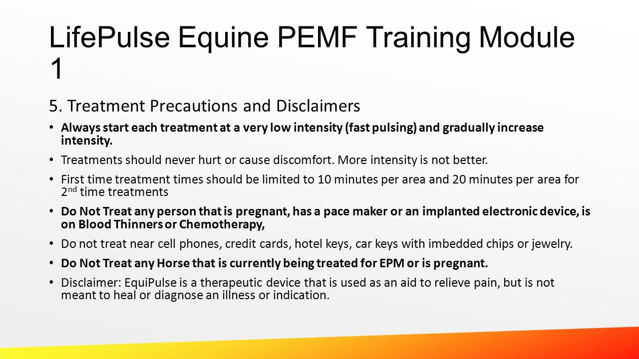 LifePulse Equine PEMF Training Module 1 5.