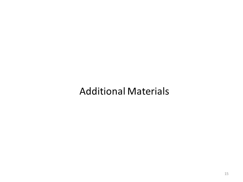 15 Additional Materials