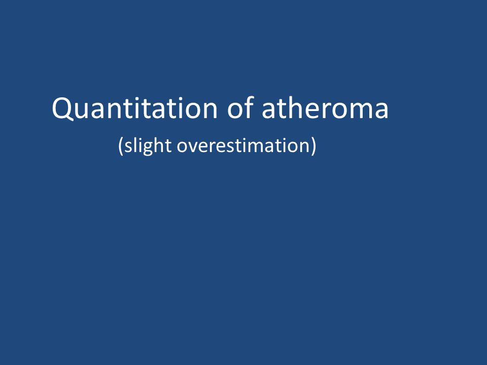 Quantitation of atheroma (slight overestimation)