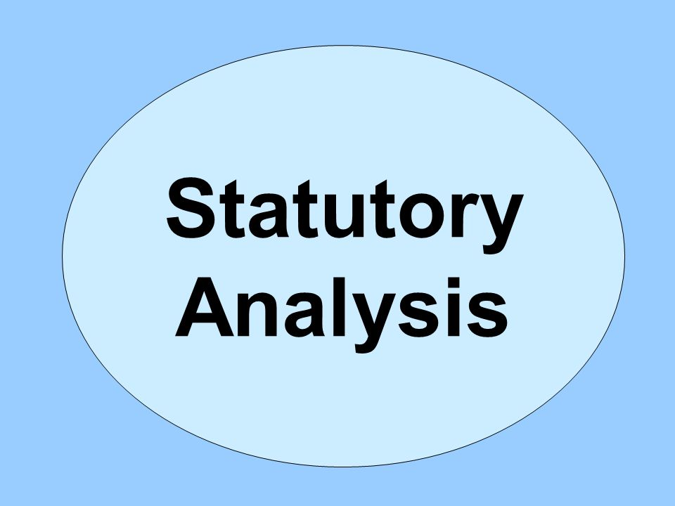 Statutory Analysis