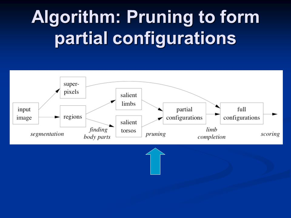 Algorithm: Pruning to form partial configurations