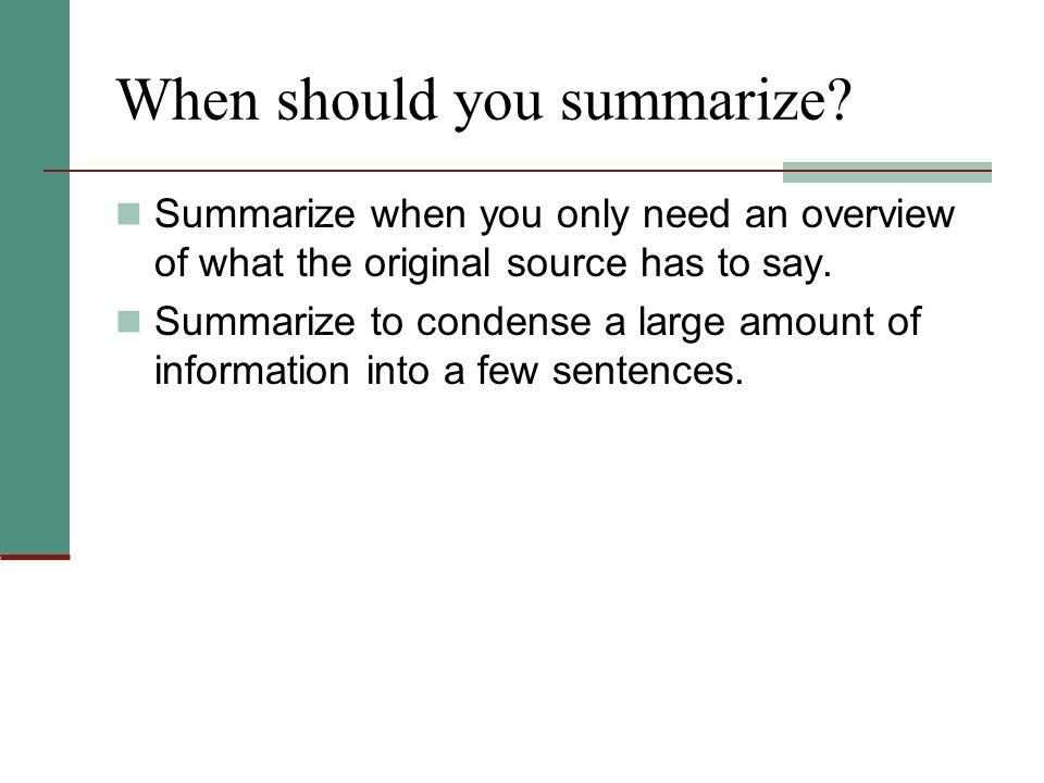 Good or Bad Summary.