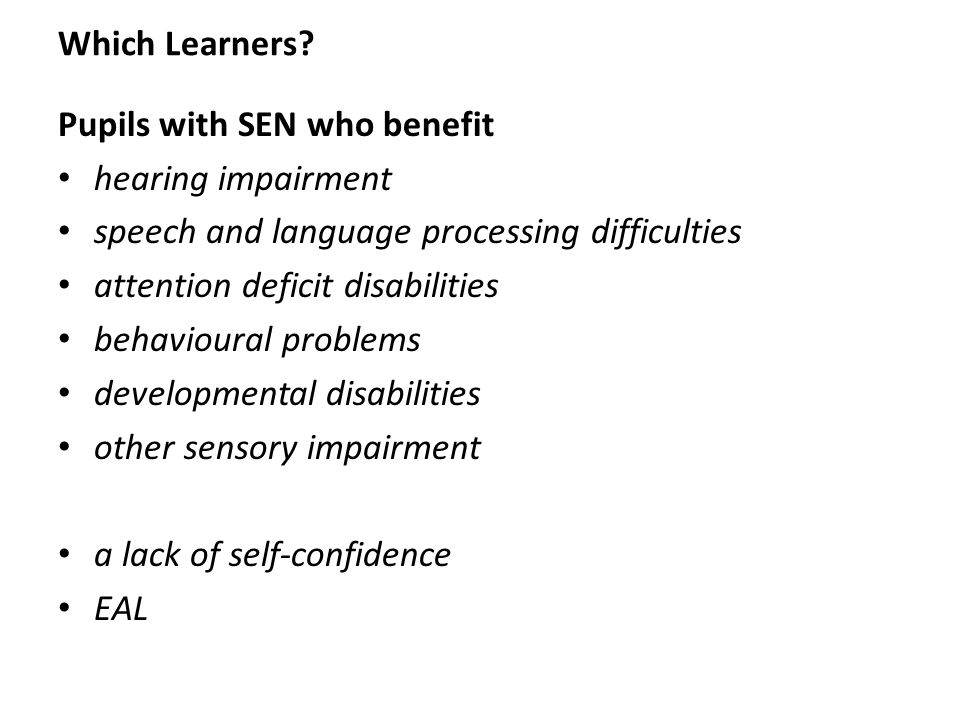 Which Learners.