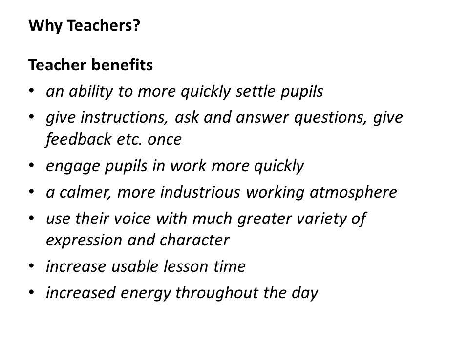 Why Teachers.