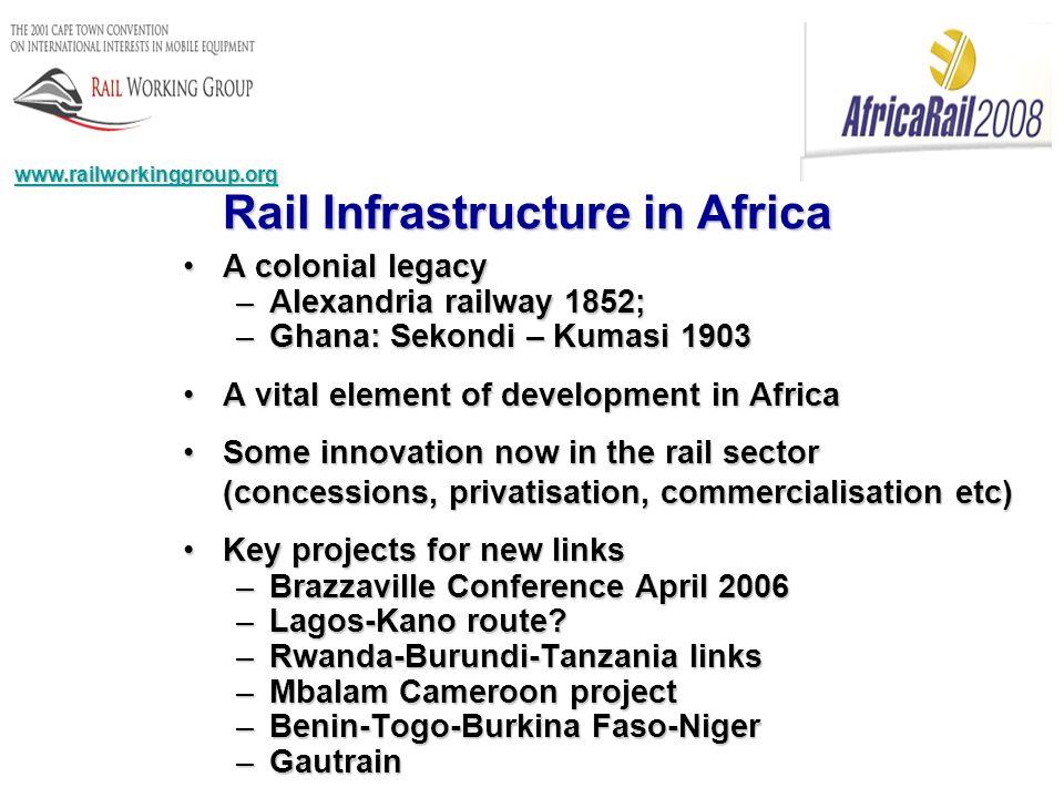 Rail Infrastructure in Africa www.railworkinggroup.org