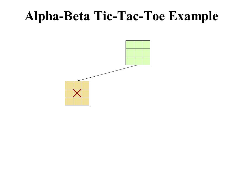 Alpha-Beta Tic-Tac-Toe Example