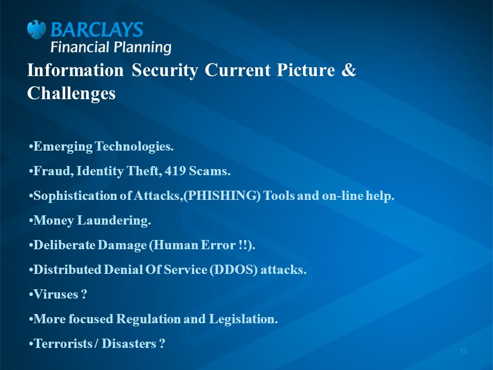 13 Information Security Current Picture & Challenges Emerging Technologies.