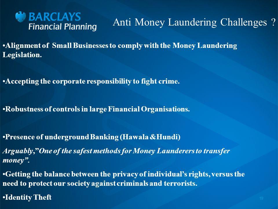 19 Anti Money Laundering Challenges .
