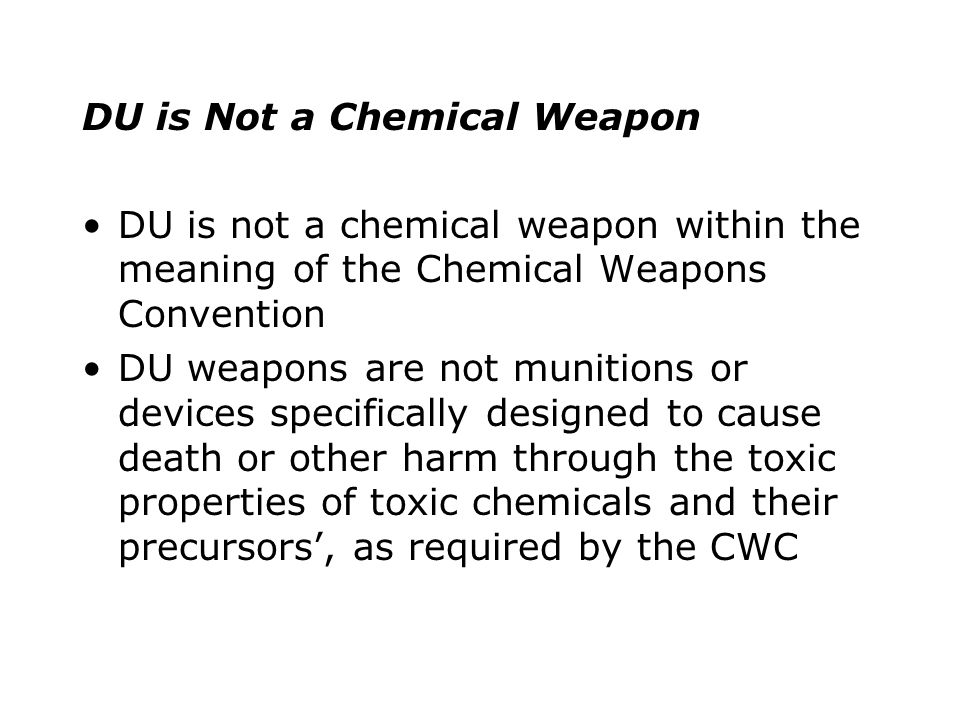 The precautionary approach has four facets: 1.Legal reviews of DU munitions by states 2.