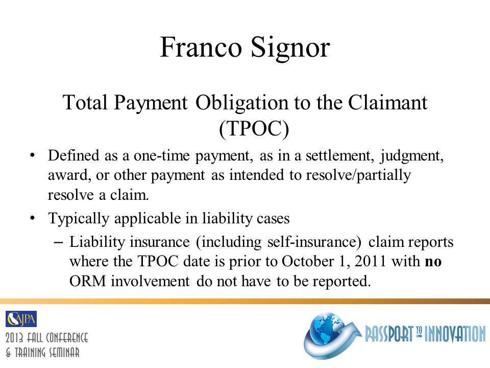 Franco Signor Notification Requirements will ensure Medicare does not pay when another entity is, even arguably, responsible.