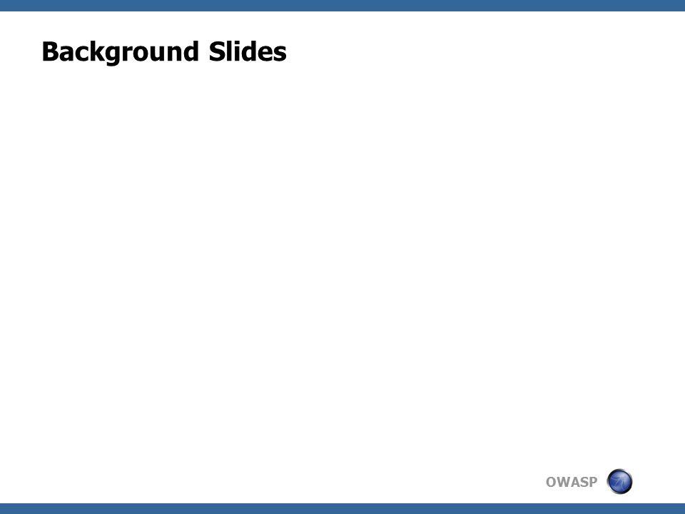 OWASP Background Slides