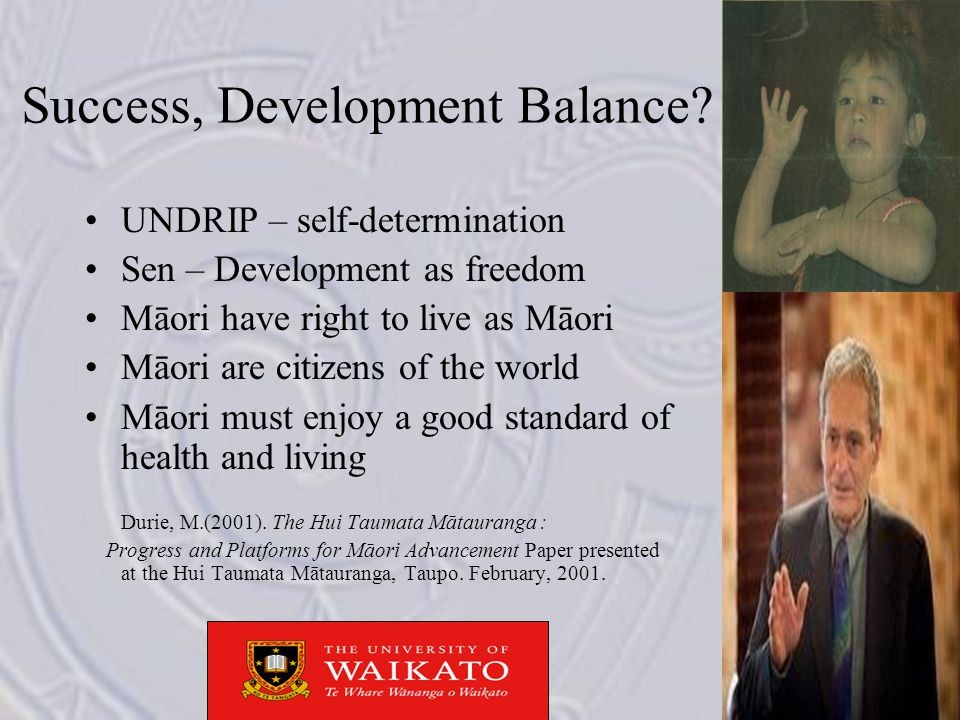 Success, Development Balance.