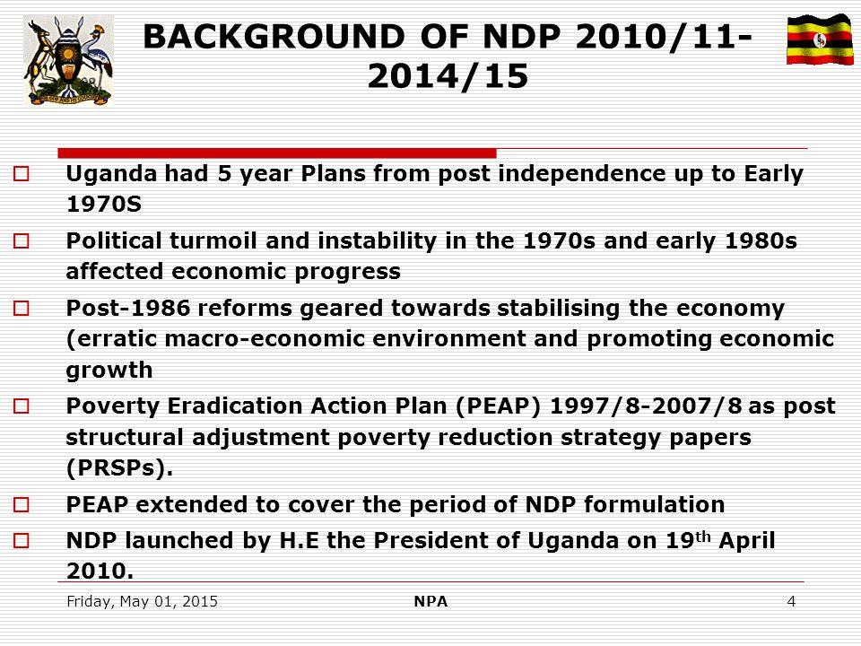 Friday, May 01, 2015NPA15 NPoA Versus NDP Socio-Economic development Actions  Objective 1: The actions captured.