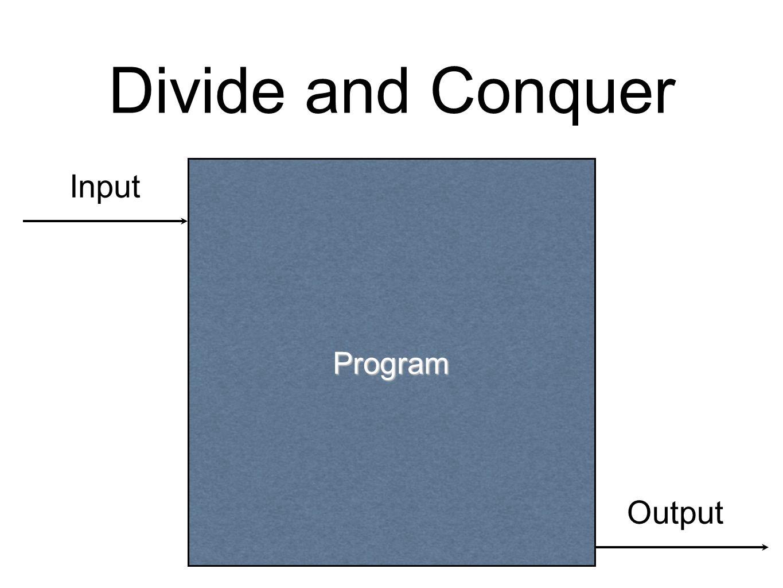 Divide and Conquer Program Input Output