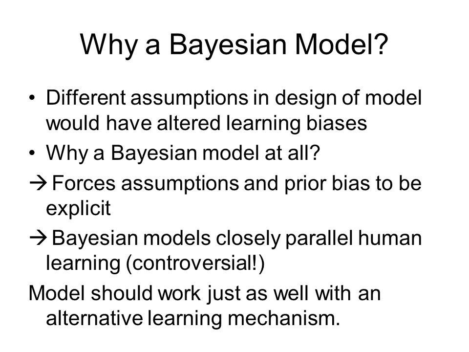 Why a Bayesian Model.