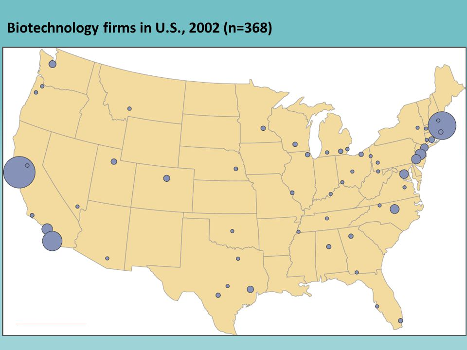 6 Biotechnology firms in U.S., 2002 (n=368) text