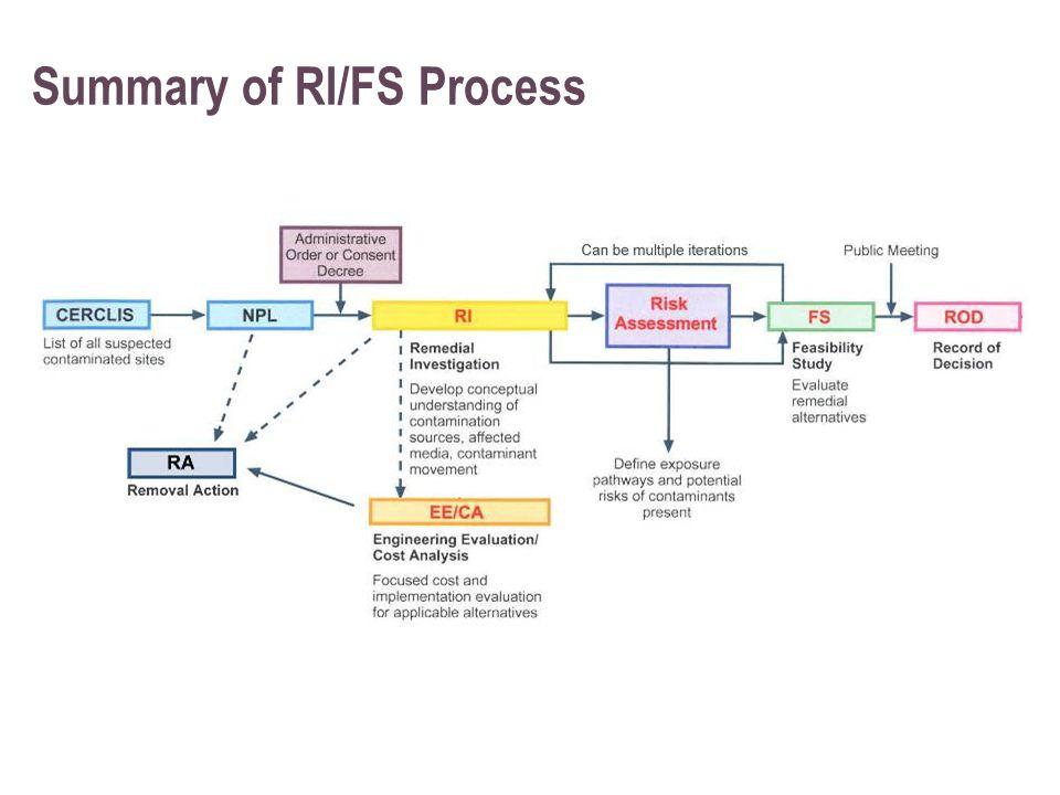 Summary of RI/FS Process