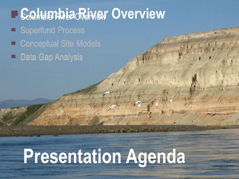 Presentation Agenda ▀ Columbia River Overview ▀ Superfund Process ▀ Conceptual Site Models ▀ Data Gap Analysis ▀ Columbia River Overview ▀ Superfund Process ▀ Conceptual Site Models ▀ Data Gap Analysis