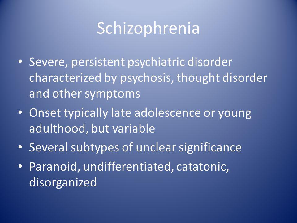 When did Schizophrenia Emerge.