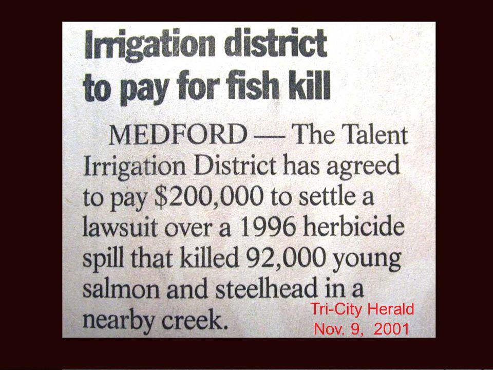 Tri-City Herald Nov. 9, 2001
