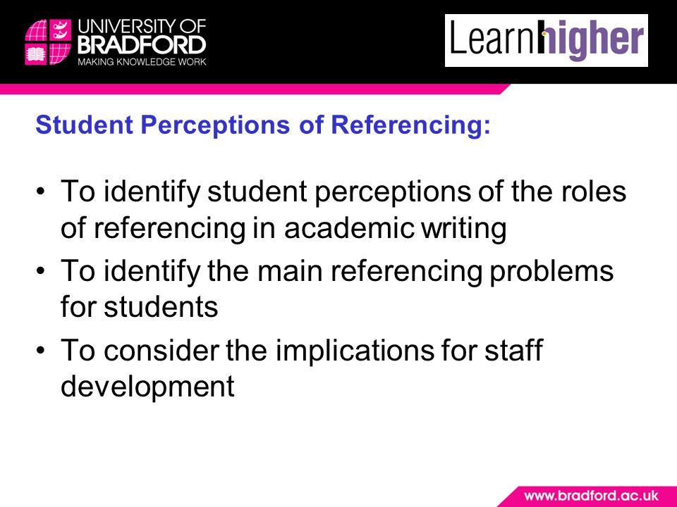 Wider, institutional, issues 'Too many referencing styles' Tutor inconsistencies Defining plagiarism How do we help and support students to manage sources in a more creative way?
