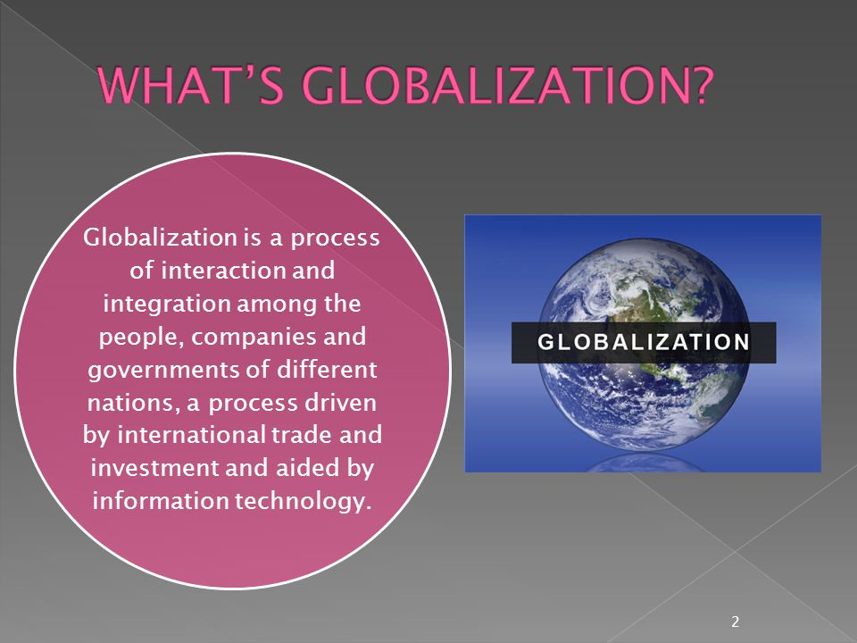  Globalization has influenced the use of language across the world.
