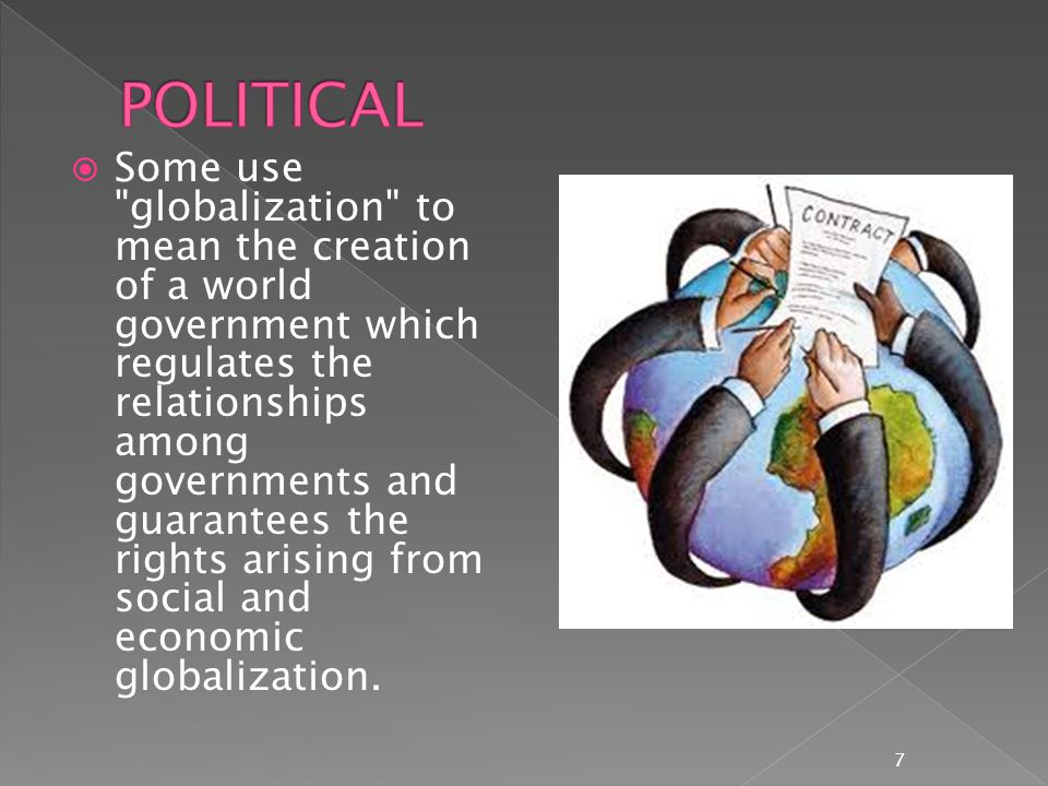  The globalization of the job market has had negative consequences in developed countries.