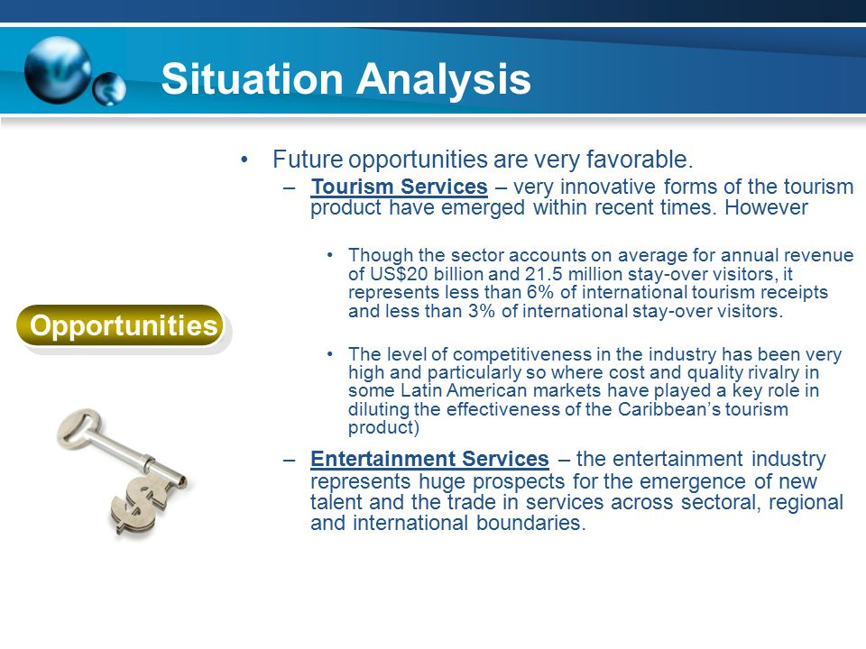 Situation Analysis Opportunities Future opportunities are very favorable.