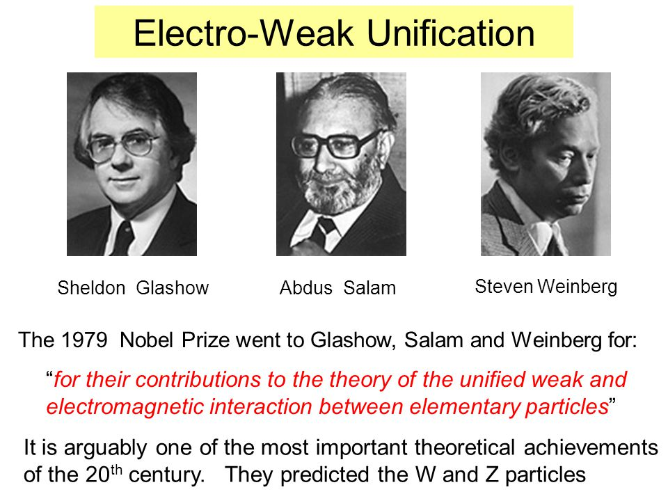 The Universal Fermi Interaction (UFI) Around 1935 Fermi had postulated that particles carried a WEAK CHARGE – just as particles carried a EM Charge – it should be the SAME IN ALL WEAK processes – but no: By 1963 Cabbibo mixing of quarks had brought the UFI back into line.