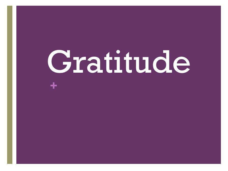 + Gratitude