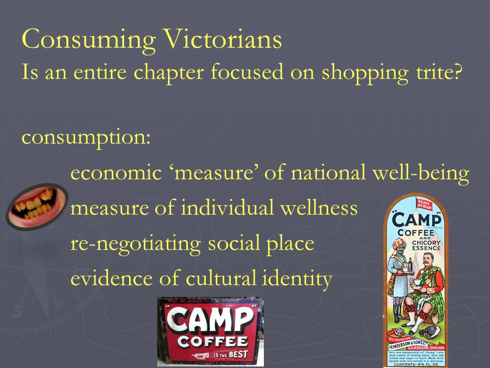 Consuming Victorians Is an entire chapter focused on shopping trite.