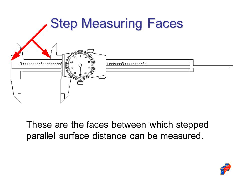 Step Measuring Faces These are the faces between which stepped parallel surface distance can be measured.