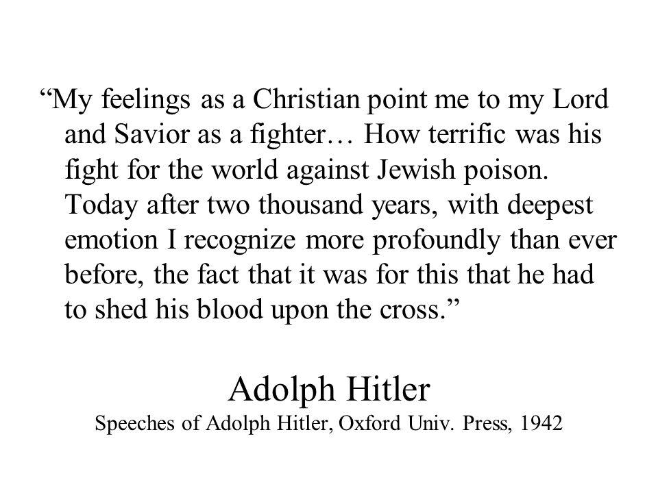Adolph Hitler Speeches of Adolph Hitler, Oxford Univ.
