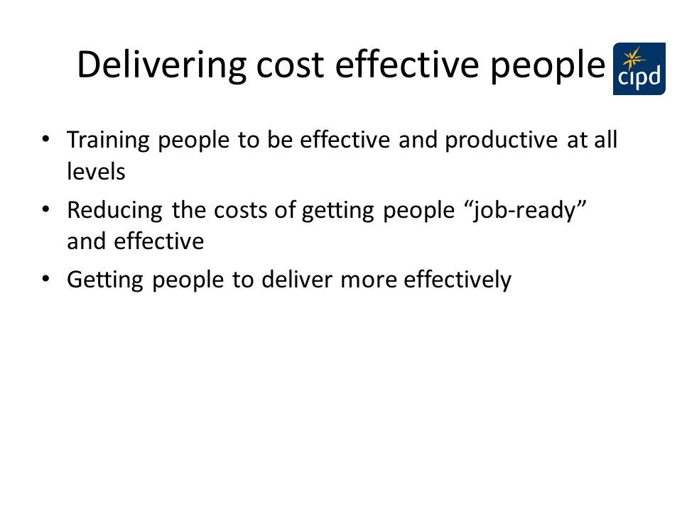 "Delivering cost effective people Training people to be effective and productive at all levels Reducing the costs of getting people ""job-ready"" and eff"