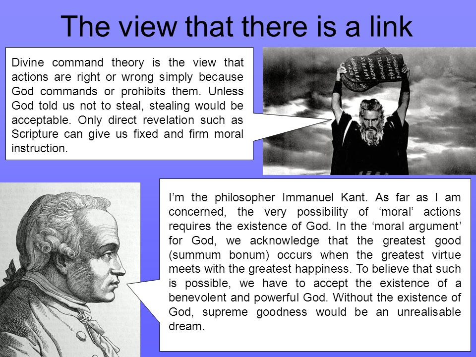 The view that there is a link I'm the philosopher Immanuel Kant.