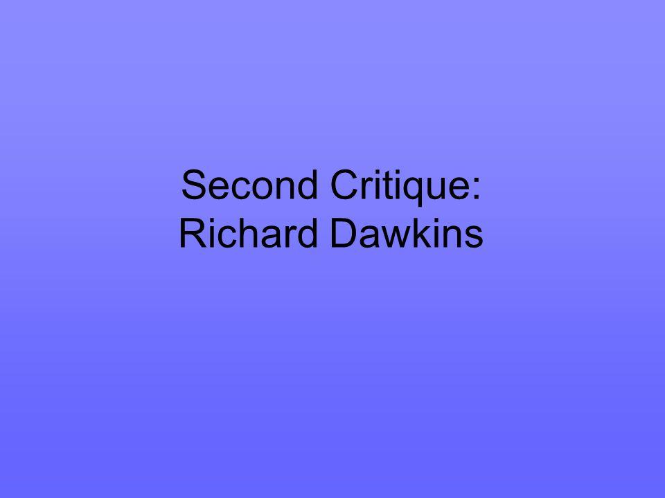 Second Critique: Richard Dawkins