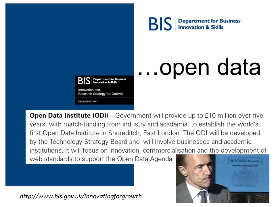 10 http://www.bis.gov.uk/innovatingforgrowth …open data